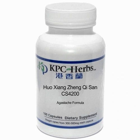 Huo Xiang Zheng Qi San, 100 Cápsulas 300-500 mg, KCP. (Agastache Powder to Rectify the Qi).