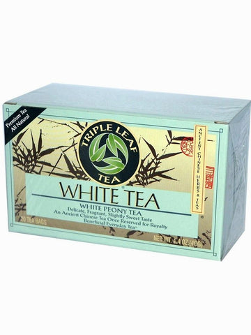 White Tea, Triple Leaf Tea, Herbal Tea, 20 bolsitas de te.