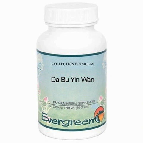 Da Bu Yin Wan, 100 Cápsulas 500 mg, Evergreen. (Sudoración nocturna, hot flash, hipertiroidismo, diabetes, menospausia).