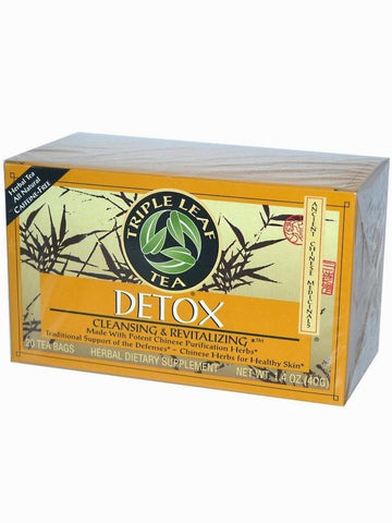Detox Herbal Tea, Triple Leaf Tea, Herbal Tea, 20 bolsitas de te.