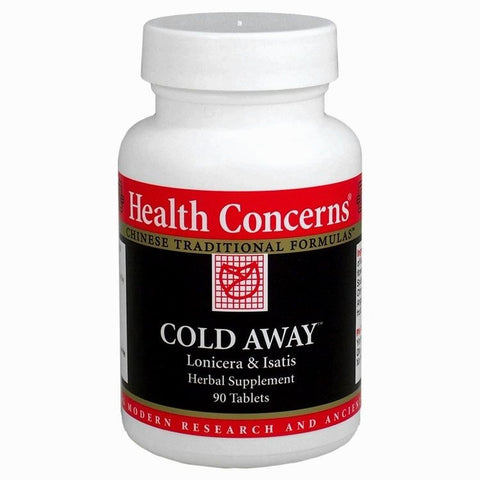 Cold Away, 90 tablets, (750 mg) Health Concerns (Catarro, gripe, dolor de garganta).
