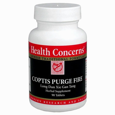 Coptis Purge Fire - Mod. Long Dan Xie Gan Tang, 90 Tabletas (750 mg), Health Concerns. (Herpes Zoster, Hepatitis).