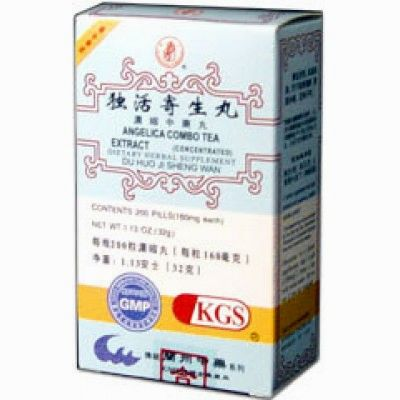 Angelica Combo Tea Extract or Du Huo Ji Sheng Wan, 200 pildoras, Lanzhou Traditional Herbs (artrosis, dolores articulares)