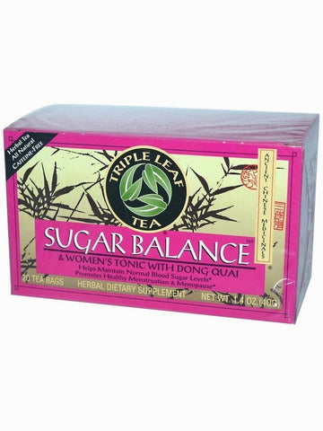 Sugar Balance & Women's Tonic, Triple Leaf Tea, Herbal Tea, 20 bolsitas de te.