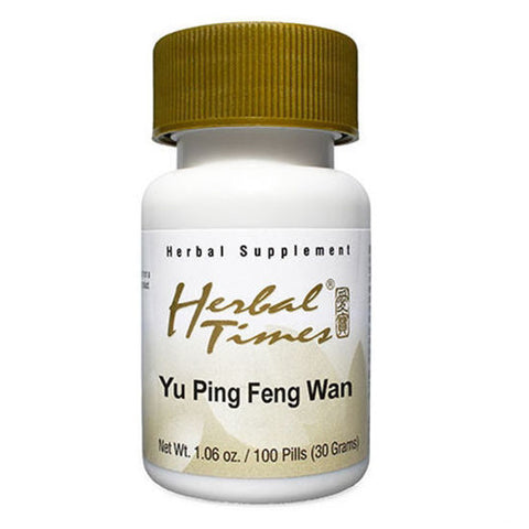 Yu Ping Feng San, 100 Píldoras 300 mg, Herbal Times (Catarro común, alergias).