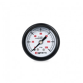 Grams Performance Universal 0-120 PSI Fuel Pressure Guage - White Face