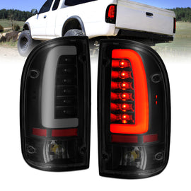 ANZO 1995-2004 Toyota Tacoma LED Taillights Black Housing Smoke Lens (Pair)