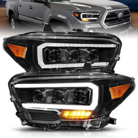 ANZO 2016-2017 Toyota Tacoma TRD LED Projector Headlights