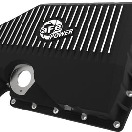 aFe 05-19 VW 1.8L/2.0L w/ Oil Sensor Engine Oil Pan Black POWER Street Series w/ Machined Fins