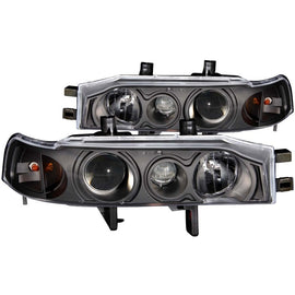 ANZO 1990-1993 Honda Accord Projector Headlights w/ Halo Black 1pc