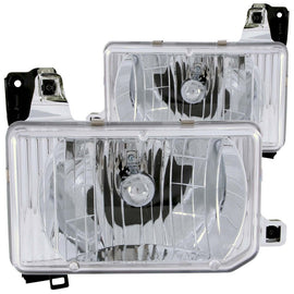 ANZO 1988-1989 Nissan Hardbody Crystal Headlights Chrome