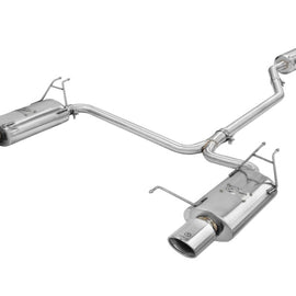 aFe Takeda Exhaust 2.25in to 2in Dia 304SS Cat-Back w/Polished Tips 08-12 Honda Accord Coupe V6 3.5L