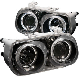 ANZO 1994-1997 Acura Integra Projector Headlights w/ Halo Black