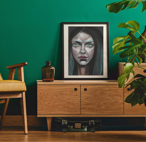 'A Girl' ART PRINTS by Marta Hutt