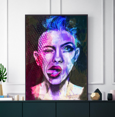 'Attitude Colour Splash' ART PRINTS by Marta Hutt