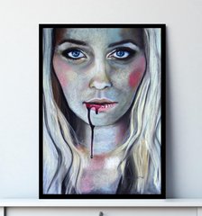 'Bite Me' ART PRINTS by Marta Hutt