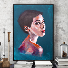 'I saw you looking' ART PRINTS by Marta Hutt