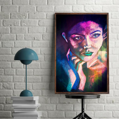 'Neon Girl' ART PRINTS by Marta Hutt