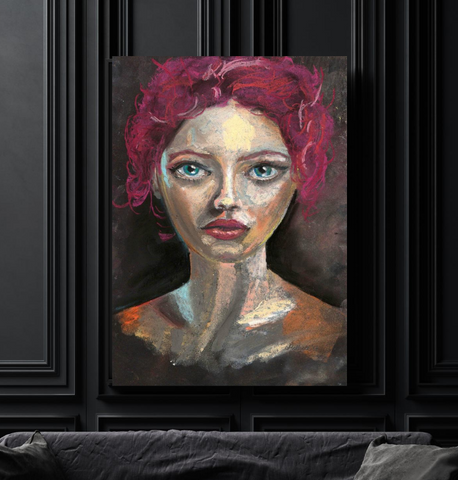 'Red Head' CANVAS by Marta Hutt