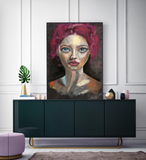 'Red Head' ART PRINTS by Marta Hutt