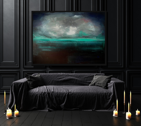 'Atlantic by Night' ART PRINTS by Marta Hutt