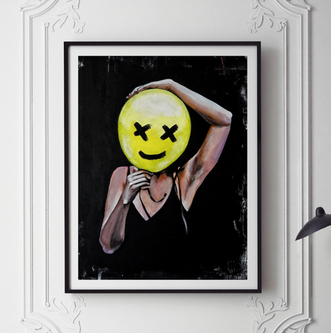 'Balloon Girl' ART PRINTS by Marta Hutt