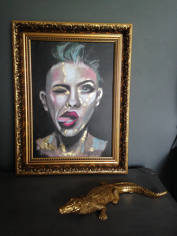 'Attitude Gold' ART PRINTS by Marta Hutt