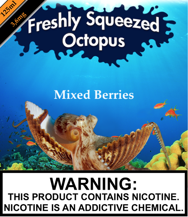Freshly Squeezed Octopus - Mixed Berries (125ML)