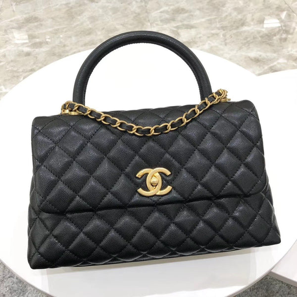 CHANEL® COCO FLAP BAG WITH TOP HANDLE