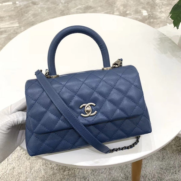CHANEL® COCO FLAP BAG WITH TOP HANDLE SMALL
