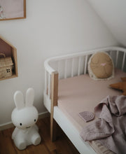 Load image into Gallery viewer, Muslin Crib Sheet 'Natural' | Mushie | PRE-ORDER END APRIL