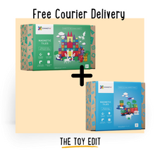 Load image into Gallery viewer, Connetix Bundle 100 piece set + Car set | IN STOCK