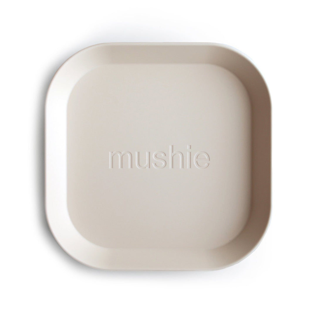 'Ivory' Square Plate, set of 2 | Mushie | SOLD OUT