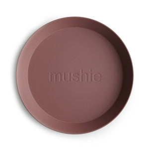 'Woodchuck' Round Plate, set of 2 | Mushie | IN STOCK
