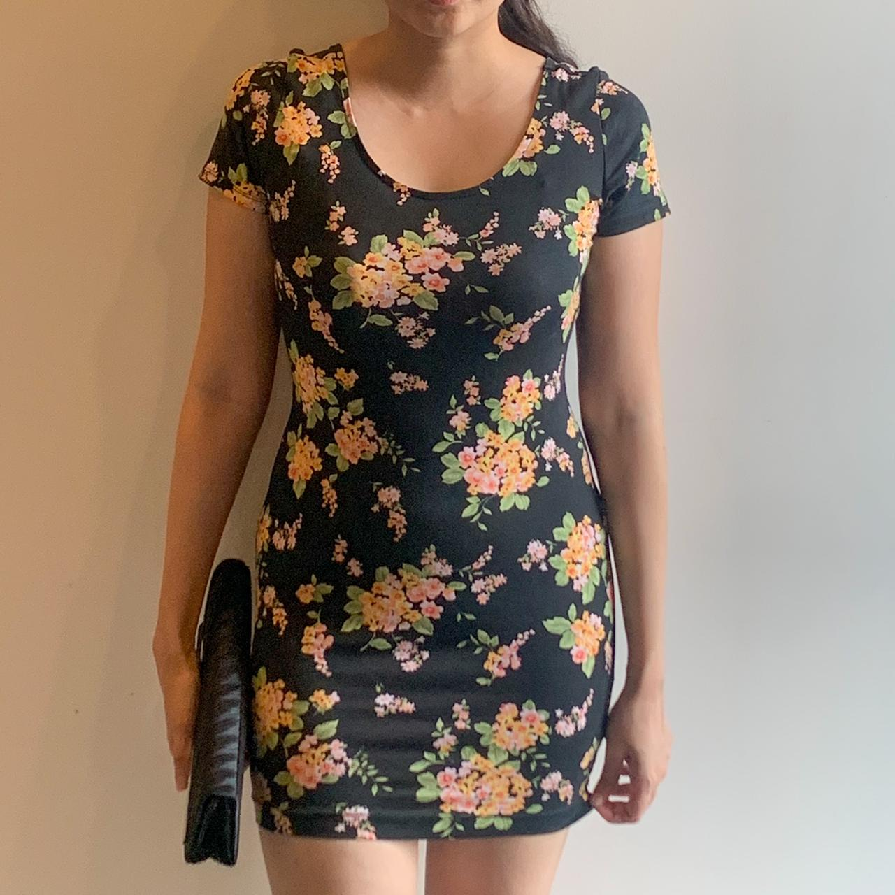 Forever21 Floral Bodycon Dress | Size S - ReThought
