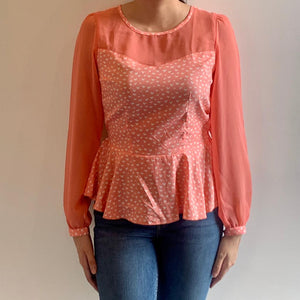 Pink Peplum Blouse - ReThought