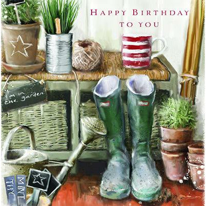 'A DAY IN THE GARDEN' Birthday Card Cards ABF The Soldiers' Charity Shop