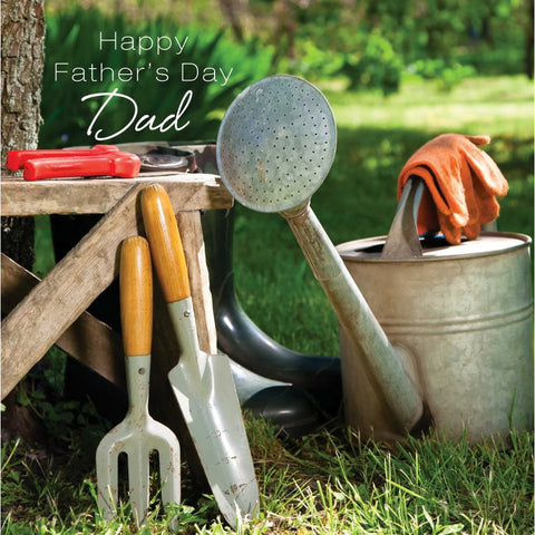 'HAPPY FATHER'S DAY DAD' Gardening Card Cards ABF The Soldiers' Charity Shop