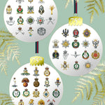 Cap badge baubles Christmas cards pack of 10 ABF The Soldiers' Charity Shop