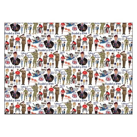 Designed by Esther Wrapping Paper Stationery ABF The Soldiers' Charity Shop