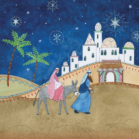 Donkey, Mary and Joseph Christmas Cards Pack of 10 Cards ABF The Soldiers' Charity Shop
