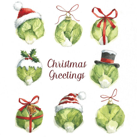 Festive sprouts Christmas Cards Pack of 10 ABF The Soldiers' Charity Shop