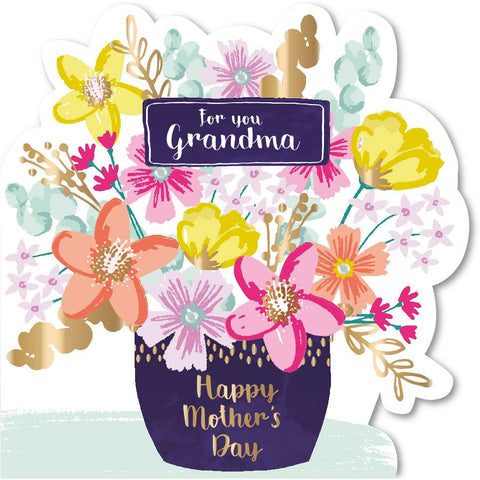 'FOR YOU GRANDMA' Flowers Mother's Day Card Cards ABF The Soldiers' Charity Shop