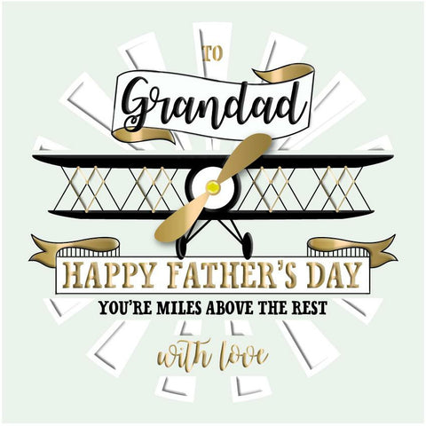 'GRANDAD' Plane Father's Day Card Cards ABF The Soldiers' Charity Shop