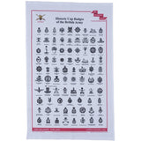 Historic Cap Badge Tea Towel ABF The Soldiers' Charity Shop