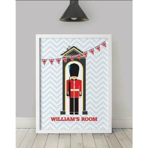 Personalised Soldier Print Stationery ABF The Soldiers' Charity Shop Irish Guard 297x400mm Unframed