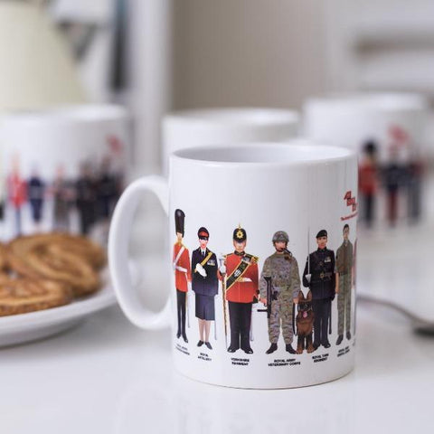 Soldier Mugs -set of 4 ABF The Soldiers' Charity Shop