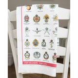 Tea Towel – Regiments and Corps of the British Army Accessories ABF The Soldiers' Charity On-line Store