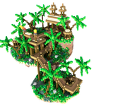 Floating Tropical Skyblock Spawn [100x100]