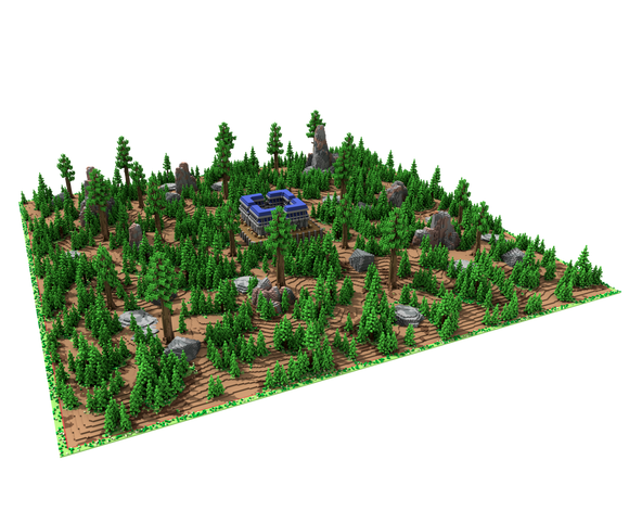 Rocky Taiga Warzone [500x500] with Blue Factions Spawn